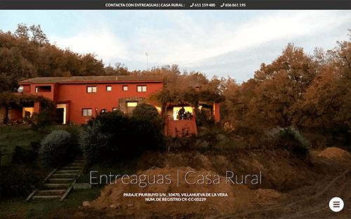 Captura de pantalla de Casa Rural Entreaguas