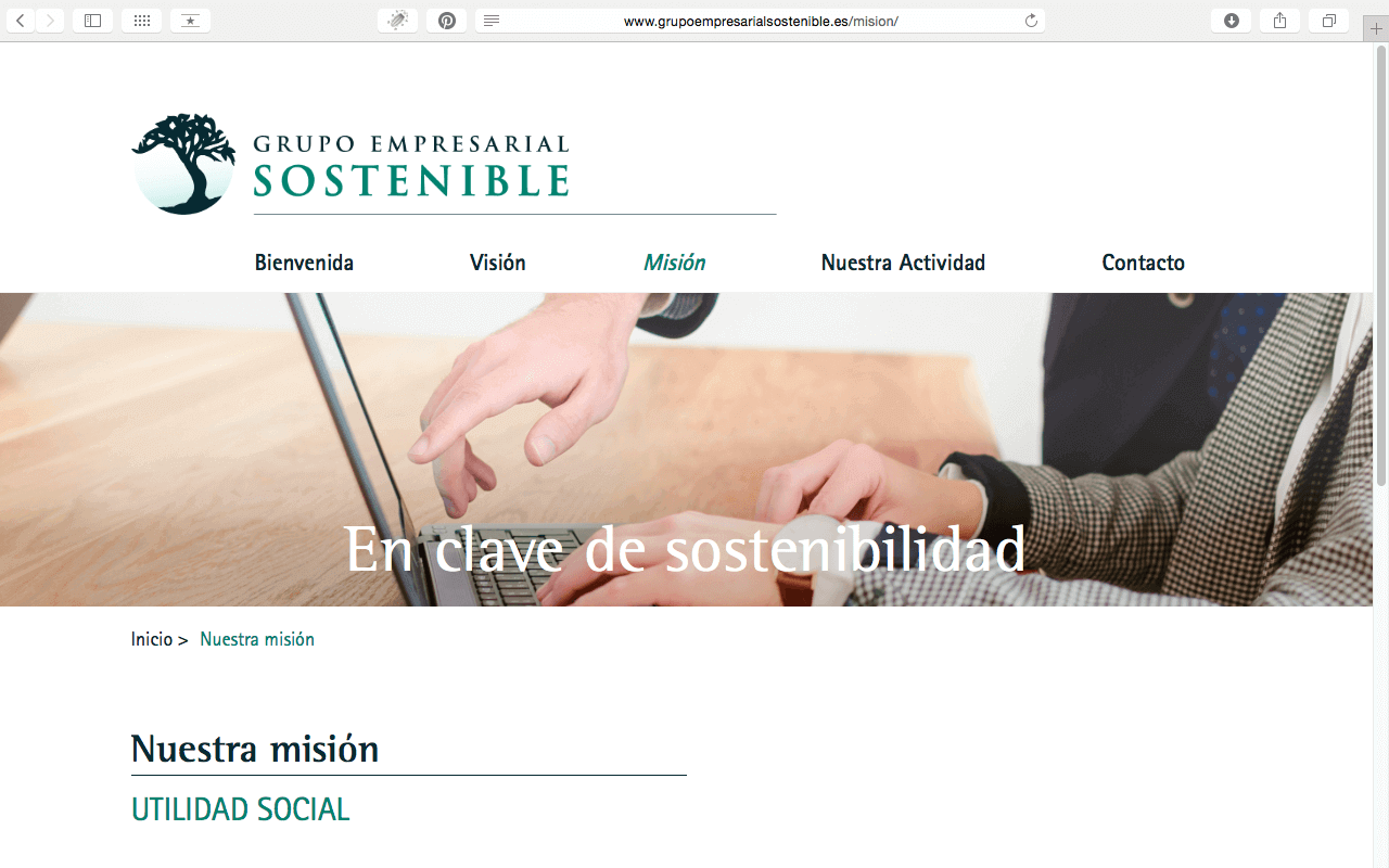 Captura de pantalla de Grupo Empresarial Sostenible