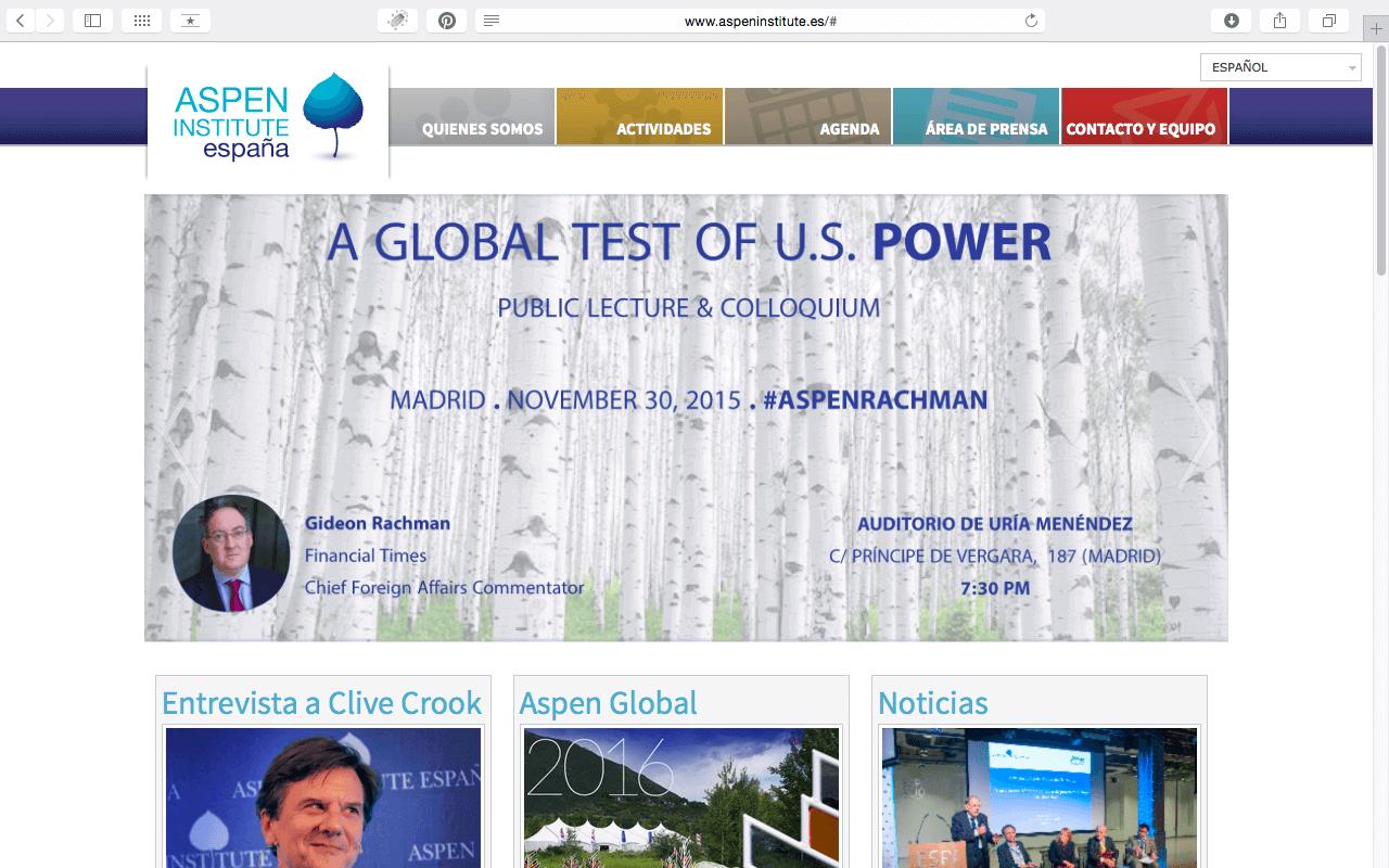 Captura de pantalla de Aspen Institute