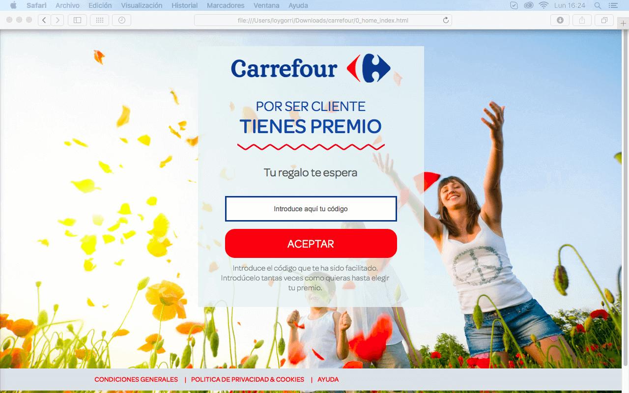 Captura de pantalla de Carrefour