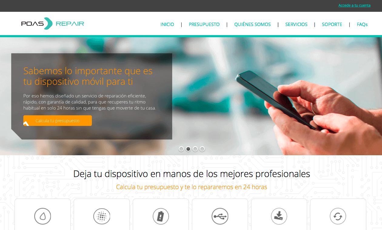 Captura de pantalla de POAS Repair