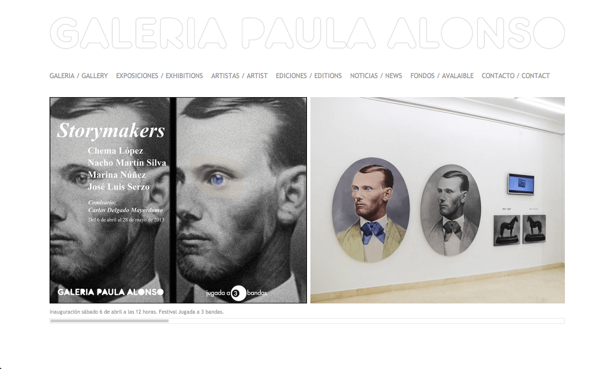 Captura de pantalla de Galeria Paula Alonso